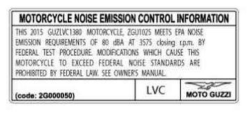 Aufkleber Noise Emission Control