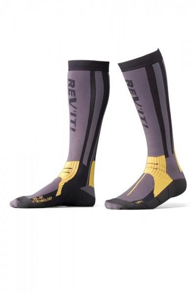 Revit Tour Sommer Socken - Grau-Gelb